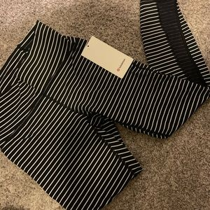 Lululemon white and black striped pant
